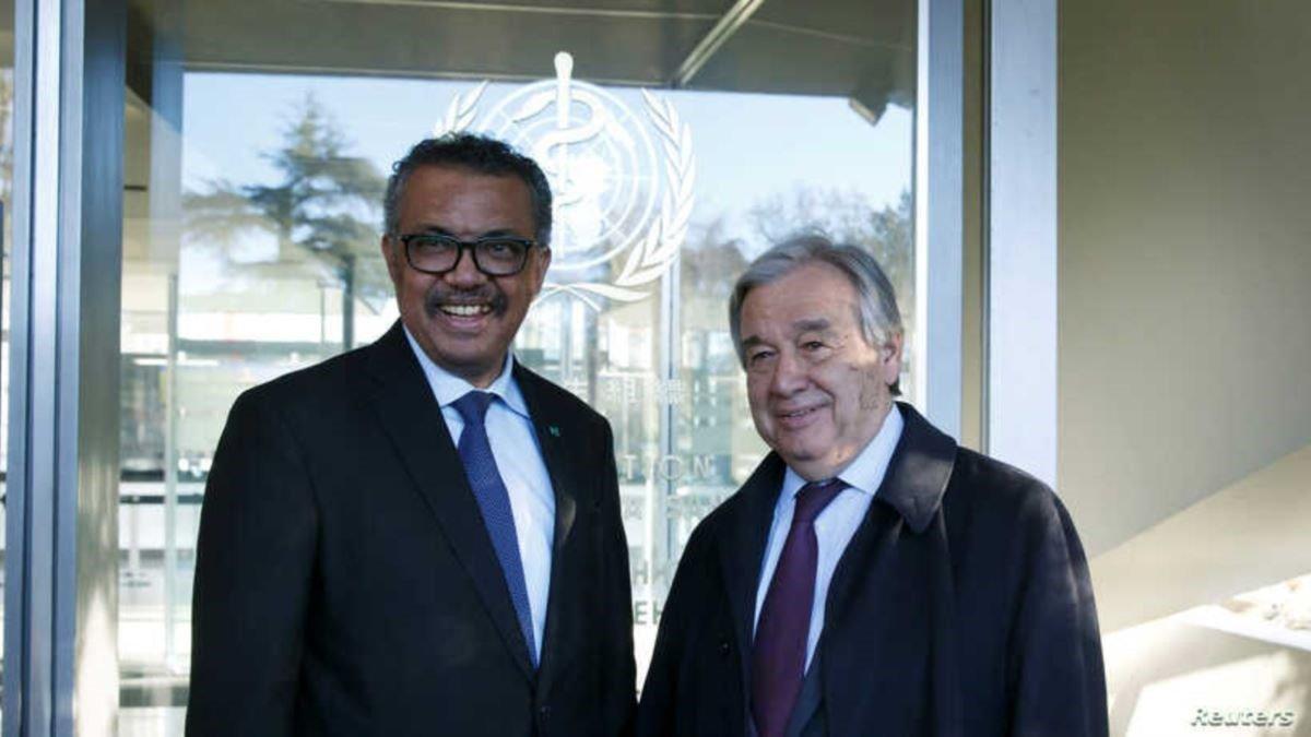 Antonio Guterres y Tedros Adhanom